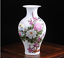 Jingdezhen ceramics Pastel Subshrubby peony flower bird vase Fish tail bottle