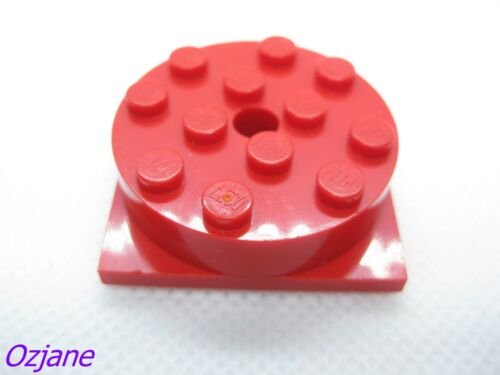 LEGO PART 3403C01 RED TURNTABLE 4 X 4 SQUARE BASE WITH TOP ROTATING