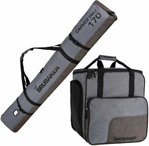 BRUBAKER-Ski-Bag-Combo-Boot-Bag-and-Ski-Bag-Gray-Black