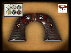 Details about RUGER BLACKHAWK, WRANGLER, SINGLE SIX, or VAQUERO GRIPS ~  OXBLOOD CLASSIC + MED
