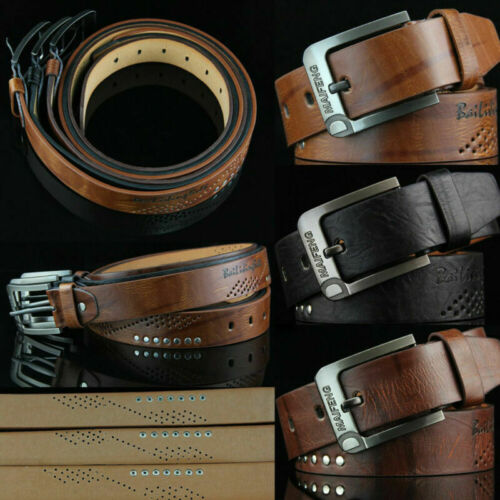 Genuine Leather Belts For Men Strap Male Pin Buckle Vintage Jeans Belt Waist