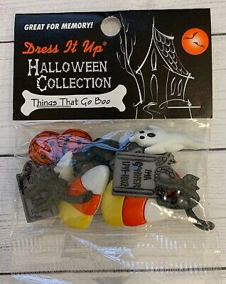 Dress It Up ~ Things That Go Boo 1201 ~ Halloween Crafts Jesse James Buttons