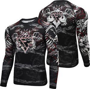 Sporting Goods Rdx Mma Rash Guard Long Sleeve Skin Compression Running Weight Loss Sweat Shirt