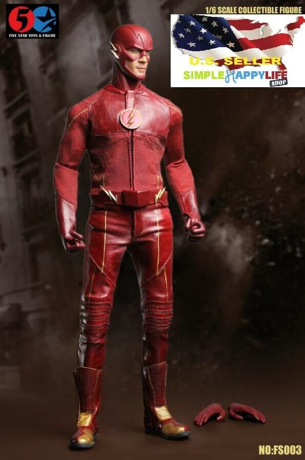 1 6 The Flash Figure FS003 CW Barry Allen Speedster Arrow DC TOY ❶USA IN STOCK❶