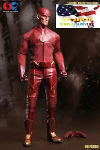 1-6-The-Flash-Figure-FS003-CW-Barry-Allen-Speedster-Arrow-DC-TOY-USA-IN-STOCK