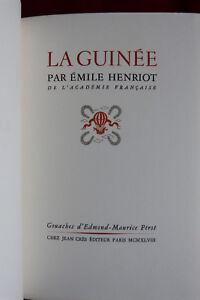 Henriot-La-Guinee-avec-9-gouaches-de-Perot-EO-avec-suite-Cres-1949