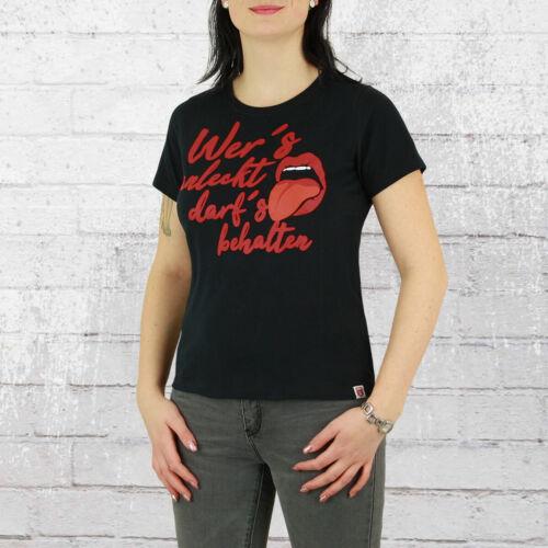 Grossier T-shirt Femmes anlecken Girls noir Hambourg Femmes tshirt qui il anleckt