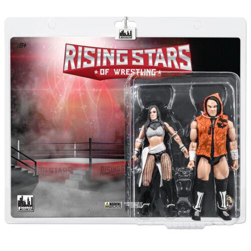 Rising Stars de Bonecos de Ação Luta Livre Sami calihan /& ivelisse Two-Pack