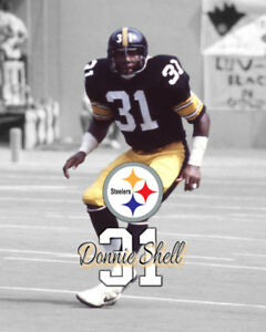 a608121a039 Image is loading Pittsburgh-Steelers-DONNIE-SHELL-Spotlight-Photo-8x10-1