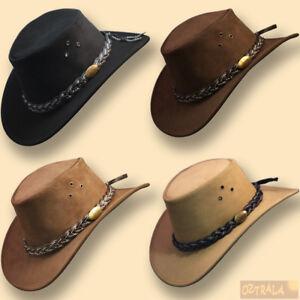 La imagen se está cargando oztrala-Buffalo-Cuero-Sombrero-adultos-para -ninos-Ninos- 336d19bc7a2