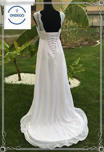 Vintage-Weiss-Ivory-Brautkleid-Hochzeitskleid-Umstandskleid-Standesamt-Kleid