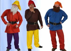 Details about ADULT MENS DWARF ELF GNOME SNOW WHITE PLAYS DOPEY GRUMPY  COSTUME SHIRT BELT XXL
