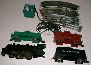 Vintage-1960-039-s-O-27-Gauge-Complete-NEW-YORK-CENTRAL-Steam-Train-Set-CHEAP