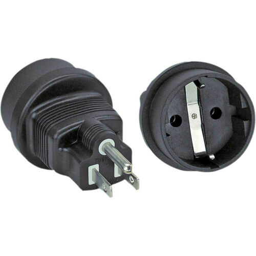Travel adapter USA US male to type F female
