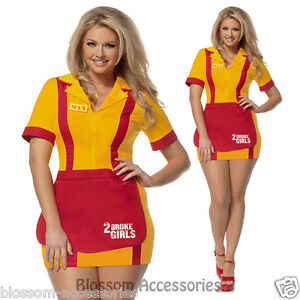 I57 2 Broke Girls Waitress Tv Series Uniform Adult Fancy Dress
