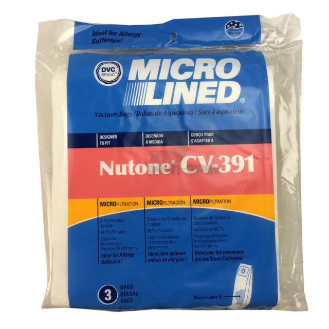 9 For Nutone Central Vacuum 391 9 pack 505 Micro-Lined Bags Made in The USA Home Care 888008