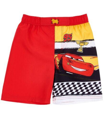 Boys Kids Official Licensed Disney Cars Red Swimming Swim Shorts Bermuda Trunks
