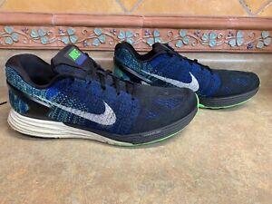 Mens Sz 12/46 Nike Lunarglide 7 Blue