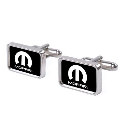 Cufflinks Mopar M Logo White Dodge Jeep Hemi Plymouth MPF