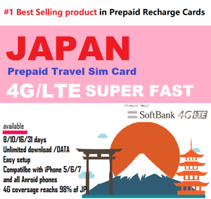 Japan-Travel-13-days-Prepaid-data-SIM-card-4G-LTE-UNLIMITED-Softbank-Network