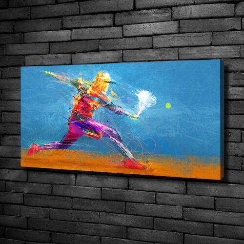 Leinwandbild Kunst-Druck 120x60 Bilder Sport Tennisspieler
