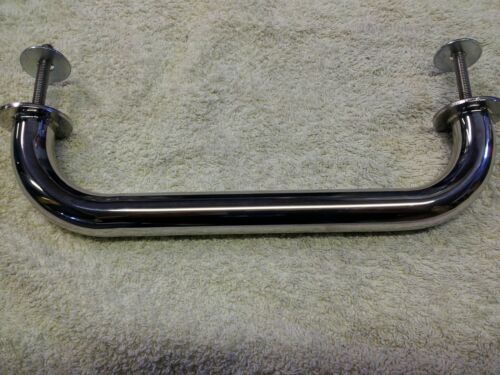 A pair of stainless steel grab rails 200mm marine grade 316 boat handrails 25mm