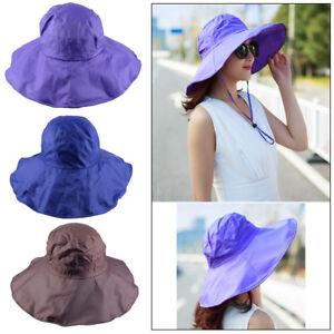 Women's Rain Hats Waterproof Hat Wide Brim Bucket Hat Cap Sun Outdoors Hats  | eBay