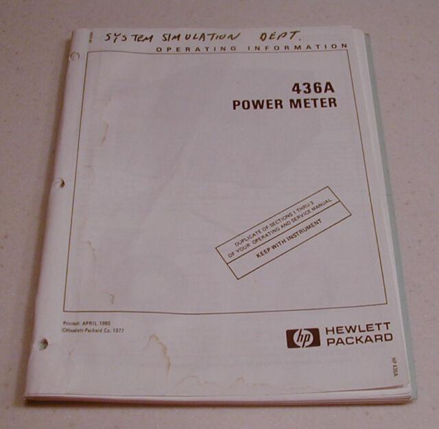 Hp 436a power meter ebay manual hp 436a power meter ops reduced freerunsca Choice Image