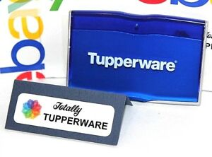 image is loading tupperware business card holder consultant case blue amp - Tupperware Business Cards