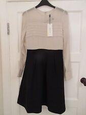 Karen Millen Pintuck Lace Contrast Dress - New With Tags - UK 8 - RRP £190