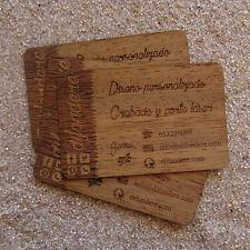 Tarjetas de visita de madera personalizadas. Wooden business cards. Corte y grab