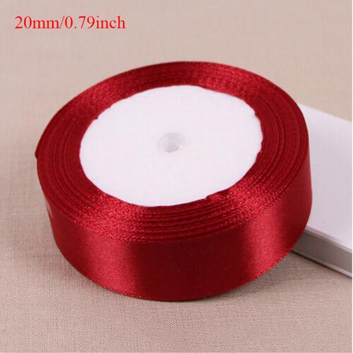New Red 25yards Ribbon Handmade DIY Craft Wedding Party Supplies Banquet Decor