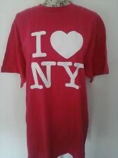 "NYS DEPT- PINK ""I LOVE NY"" CREW NECK SHORT SLEEVED LOGO T-SHIRT size X LARGE"