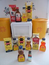 Vintage Spices 5 Sauer's, 1 McCormick Extract, 1 Candy-Mate Watermelon Oil &MORE