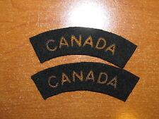 Royal Canadian Navy Badge Set Shoulder Title Flash CANADA GOLD