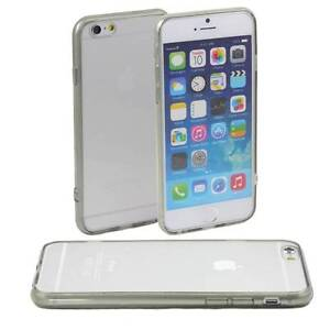 5-x-GREY-HARD-BACK-CASE-FITS-iPHONE-6-APPLE-CLEAR-TPU-SILICONE-BUMPER-COVER-M45
