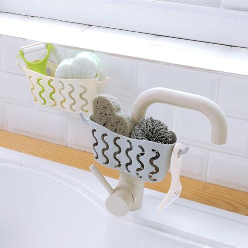 Suction Cup Sink Shelf Storage Rack Soap Sponge Drain Rack Sucker Holder  In BW
