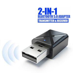 Coche-Transmisor-2-1-Receptor-Audio-inalambrico-USB-Bluetooth-Adaptador-FM-5-0