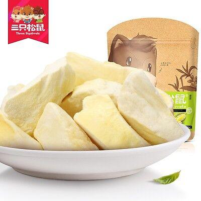 Dried Fruit Durian Chinese Food Snacks Three Squirrel中国小吃食品金枕头榴莲干 三只松鼠冻干榴莲36g*6袋