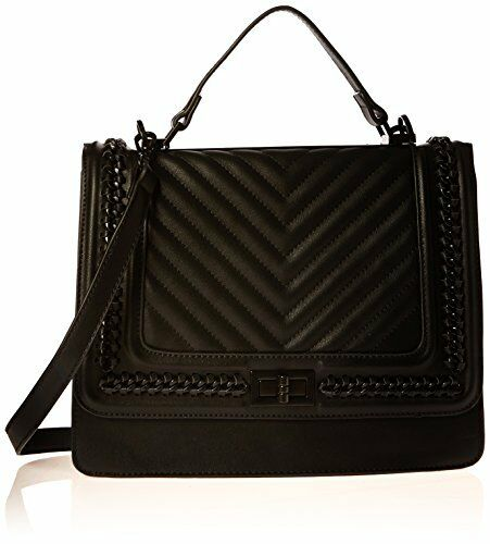 Aldo Trenalle Top Handle Handbag, Black Leather