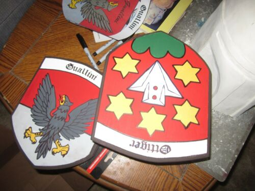 Custom Swiss Family Crest Hand Painted Acrylic on Wood-Unique!