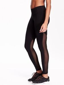 dcc16ecf59dbfa OLD NAVY Mesh Panel Compression Leggings SPORTS YOGA IMPORTED US NEW ...