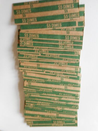 200 ASSORTED FLAT PAPER COIN WRAPPERS 50 - QUARTERS, DIMES, NICKELS, PENNIES