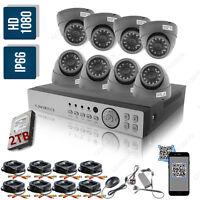 2tb Hard Drive Full Hd Cctv 2.4mp 1080p Dvr Record Ir-cut Security Camera Kit