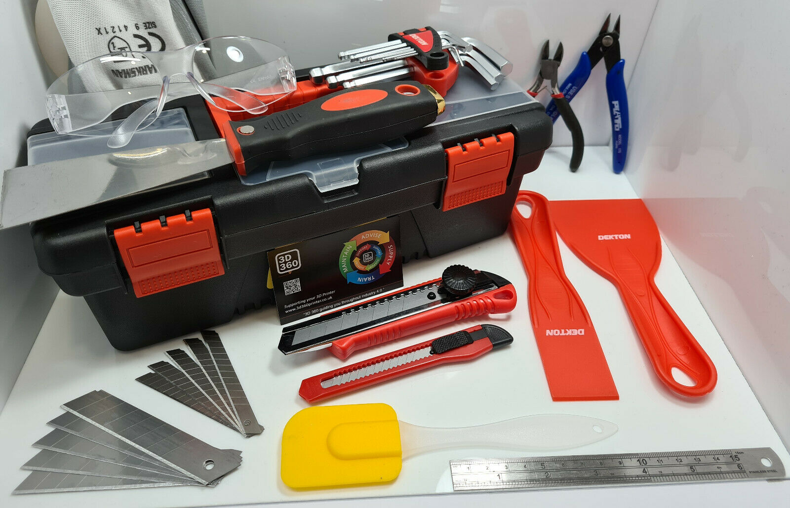 3D Printer SLA / Resin DIY Operation & Maintenance Toolkit Safety PPE Set Bundle