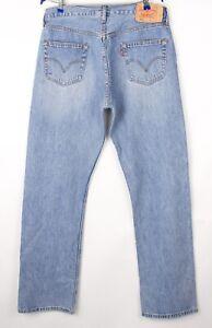 Levi's Strauss & Co Herren 501 Gerades Bein Jeans Größe W36 L34 BCZ858