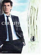 PUBLICITE ADVERTISING 027  2012   Cerruti 1881 parfum homme Mac Lavoine