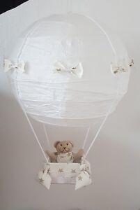 Details zu Heißluftballon Deckenlampe Kinderzimmer Deko Junge Mädchen  Geschenk Geburt beige