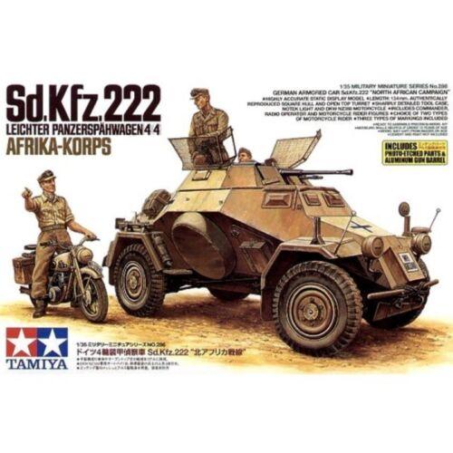 Tamiya 35286 Sd.Kfz.222 Leichter Panzerspähwagen 4 4 Afrika-Korps 1//35