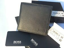 BRAND NEW DESIGNER HUGO BOSS /'CAENESTIR/' BI FOLD BLACK LEATHER WALLET